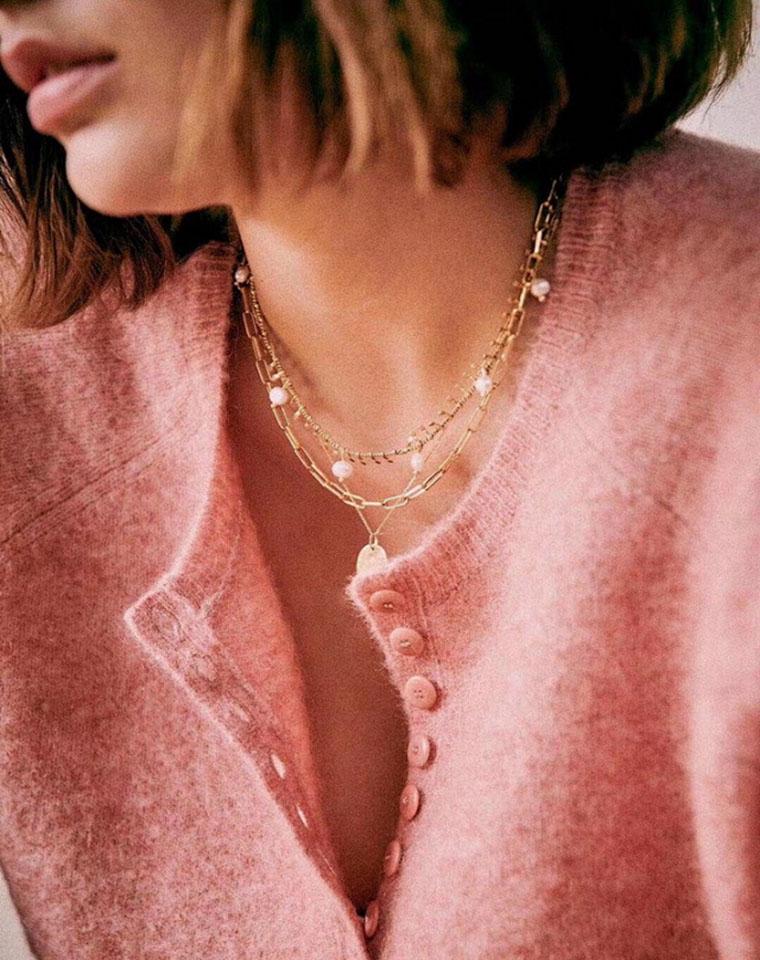 嗲嗲蜜桃粉 减龄显白 仅175元  法国小众品牌  Sezane纯正原单  十粒排扣  法式宽松 粉色套头毛衣