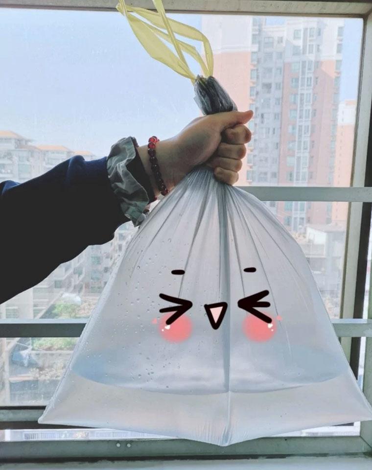 质量巨好!10斤垃圾轻松拿下!仅2.95元20只!!抽绳不脏手  便携手提垃圾袋 出口英美
