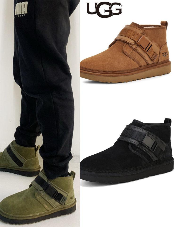 给纯爷们的硬货 仅348元   UGG纯正原单 搭扣皮毛一体雪地靴 一脚蹬雪地靴棉鞋