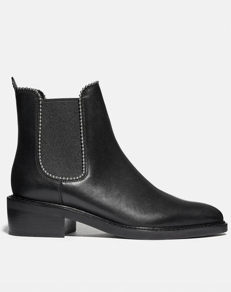 年货节  特殊渠道 高端好货  仅368元  COACH蔻驰纯正原单    俏皮U型 圆珠短筒皮靴