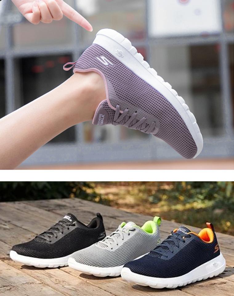 重磅!一家人都需要!  Skechers斯凯奇纯正原单  21春夏新款GOWALK男女款鞋健步鞋 网面轻便减震  运动鞋透气慢跑鞋