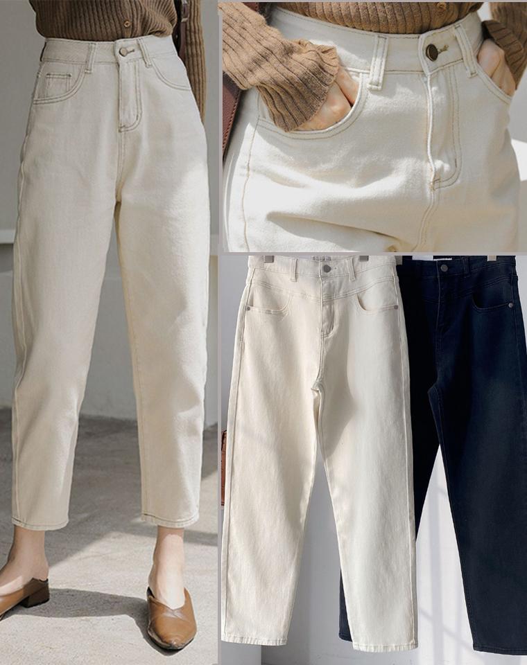 没有这款老爹裤  这个春季没法过!高品质客供生态棉  仅128元 MISS纯正原单 复古港范儿 高腰宽松直筒牛仔老爹裤牛仔裤