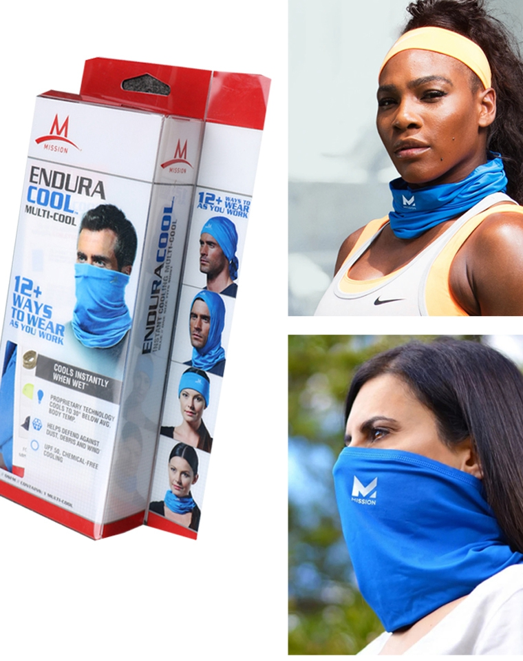 太实用了!12种+多用途功能型 男女款 仅9.9元 美国Mission纯正原单  防晒速冷 跑步徙步探险户外运动长围脖头巾面罩
