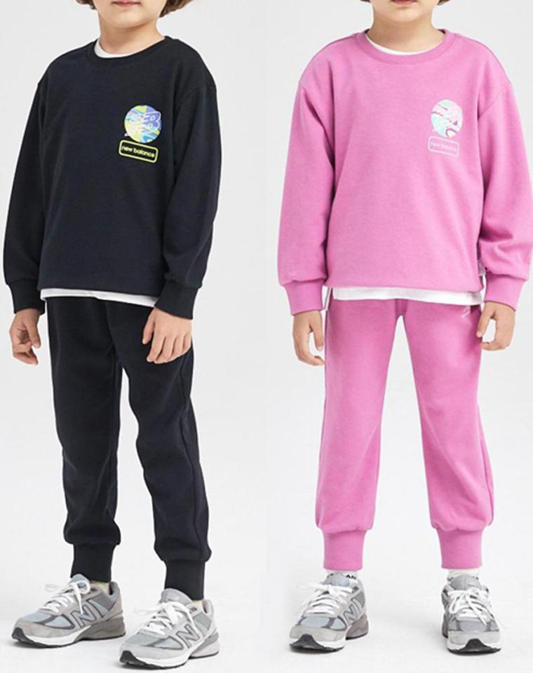 绝对的王炸! 21年韩国最新订单 青岛代工厂出 品质杠杠好 New Balance儿童卫衣T恤三件套 关键是实用好穿!