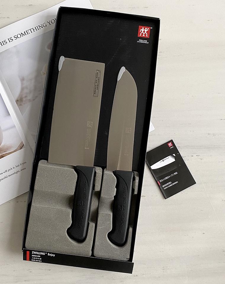 拼手速坐等好评  仅98元 德国双立人 不锈钢厨房刀具2件套装  家用多功能刀 切片刀