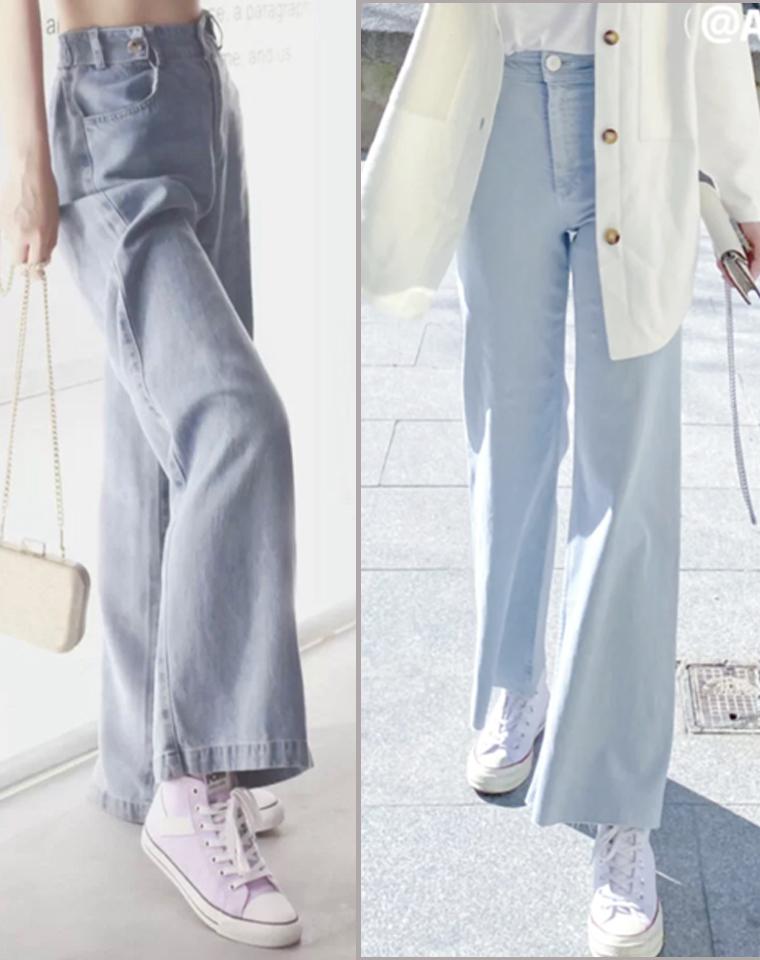 巨软 巨垂 巨显大长腿 仅138元   2021新型面料 巨软 巨垂 巨显大长腿巨显瘦牛仔阔腿裤