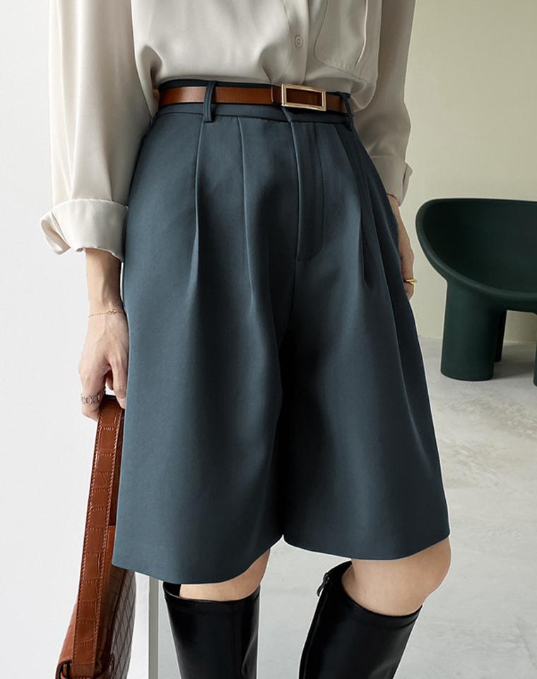 最适合孩儿妈的OL中裤  仅75元 超实穿洋气 高腰西装中裤 宽松阔腿显瘦  百搭中裤