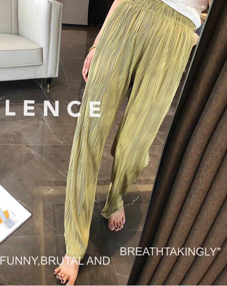 浮雕肌理  摸着有厚度 拎着有分量  穿着凉爽透气不粘身 仅79元  夏装薄款    波纹浮雕肌理感  女宽松垂感阔腿裤