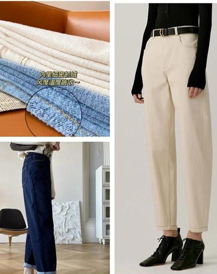 加绒一样有型!仅118元  ICICLE之禾纯正原单  2021秋季最新  加绒牛仔老爹裤